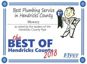 Voted Best Plumbing Service in Best of Hendricks County 2018