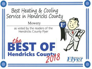 Voted Best Heating & Cooling Service in Best of Hendricks County 2018